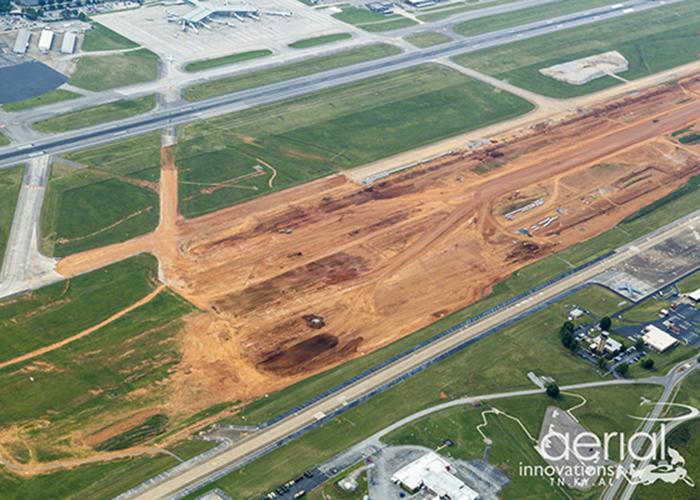 Photo of the McGhee Tyson Airport Runway Modernization.